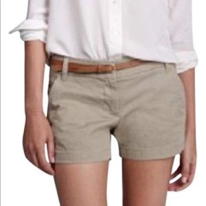 J. CREW Classic Twill City Fit Chino Shorts Putty